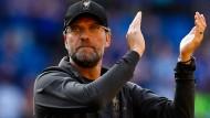 Drei Punkte auf trockenem Rasen: Liverpool-Trainer Jürgen Klopp.