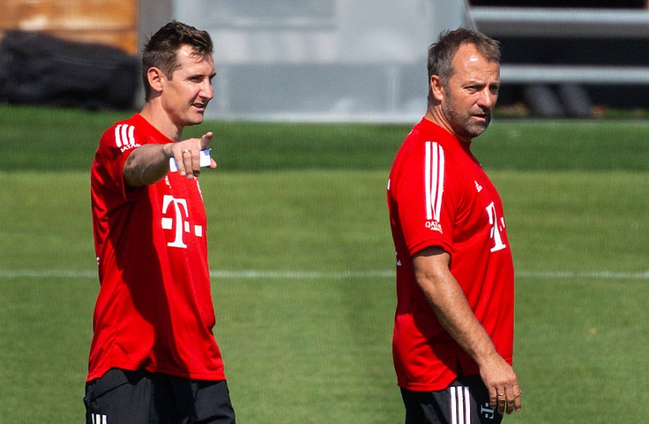 Gemeinsame Vergangenheit: Hansi Flick und Miroslav Klose (links), hier 2020