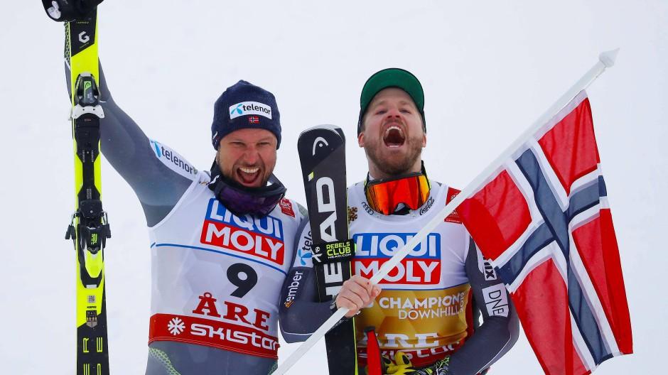 Die Wikinger räumen ab: Aksel Lund Svindal (l.) und Kjetil Jansrud