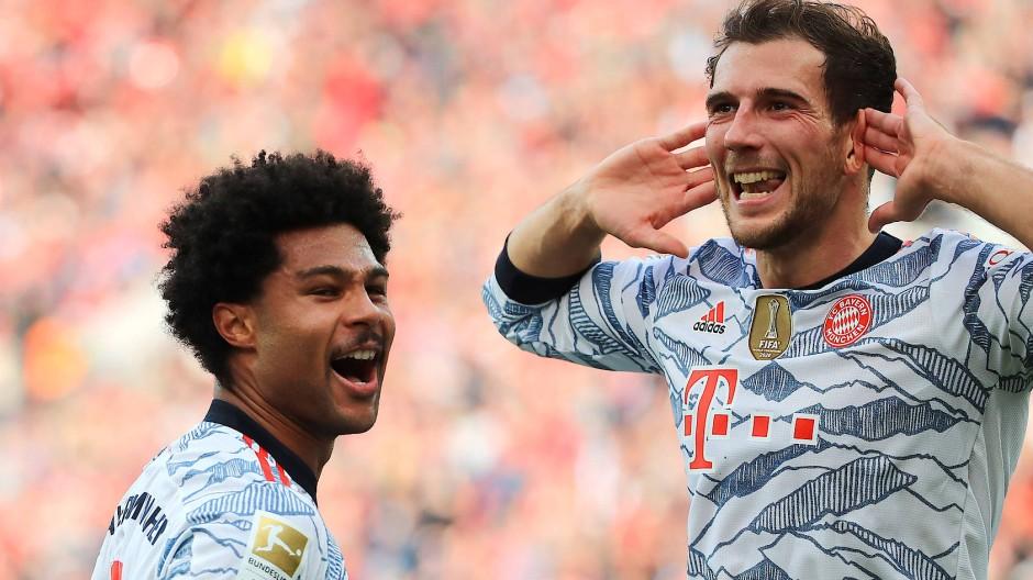 Klare Sache: Serge Gnabry (links), Leon Goretzka und der FC Bayern lassen aufhorchen.