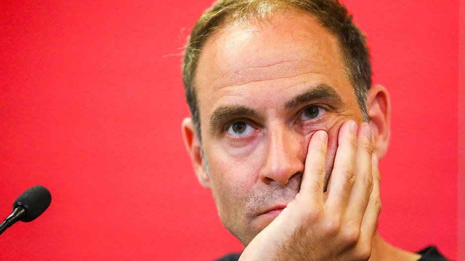 """""""Wir haben bisher viele Hauruckaktionen erlebt"""", sagt Oliver Mintzlaff."""