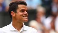 Der Kanadier Milos Raonic will im Wimbledon-Finale der Spielverderber sein.