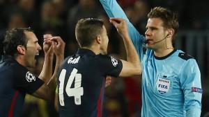 Atlético schimpft auf deutschen Schiedsrichter