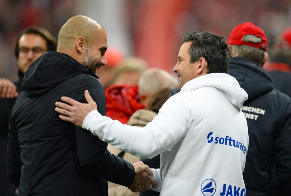Auf Augenhöhe? Schuster mit Pep Guardiola