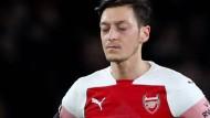 Kurzarbeiter in London: Mesut Özil ist bei Arsenal nicht mehr so sehr gefragt wie noch vor einiger Zeit.