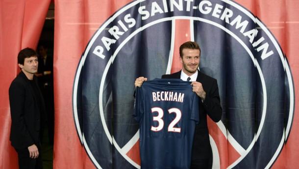 Sportdirektor Leonardo steht ein wenig im Abseits: Beckham überstrahlt alles