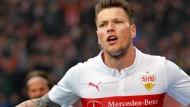 Erleichterung pur: VfB-Stürmer Ginczek trifft doppelt gegen Frankfurt
