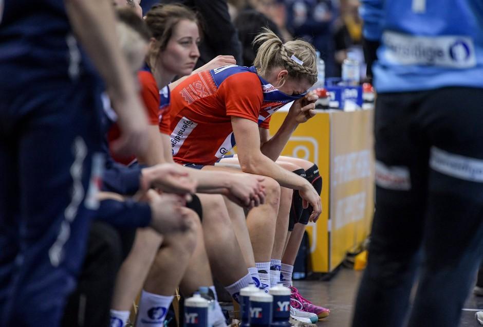 Niedergeschlagen nach dem Finale: Handball-Frauen aus Norwegen