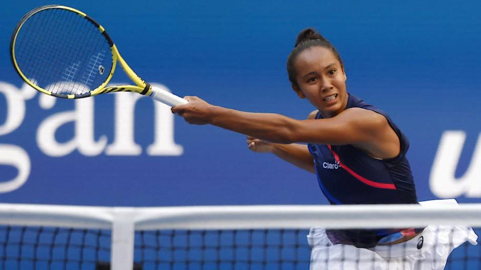 Steht schon im Halbfinale: Leylah Fernandez bei den US Open