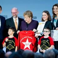 Bundeskanzlerin Angela Merkel bei der Verleihung der Sterne des Sports.