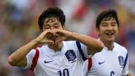 Ein Herz für Uli: Nam Tae Hee feiert sein Siegtor