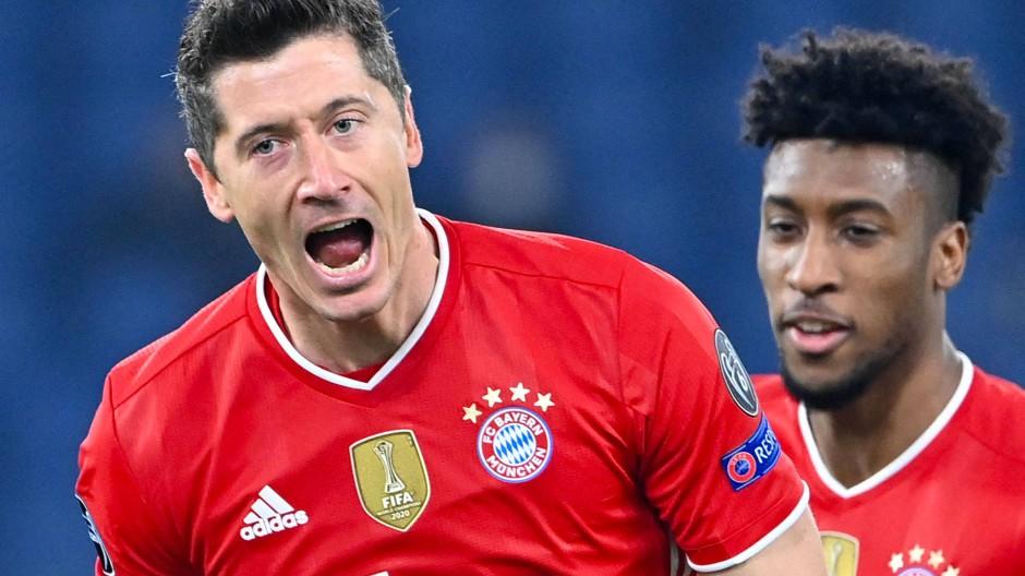 Er trifft eigentlich immer, aber selten hatte er es so leicht wie vor dem 1:0 in Rom: Robert Lewandowski