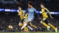 Sané bringt die Wende im Topspiel gegen Arsenal