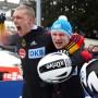 Wieder Weltmeister: Friedrich (rechts) und Anschieber Margis nach dem entscheidenden Lauf