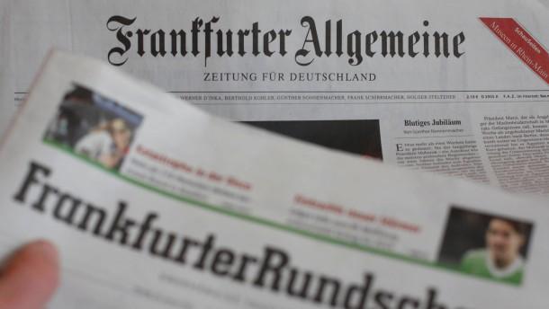 """Kartellamt stimmt Uebernahme der """"Frankfurter Rundschau"""" durch FAZ zu"""