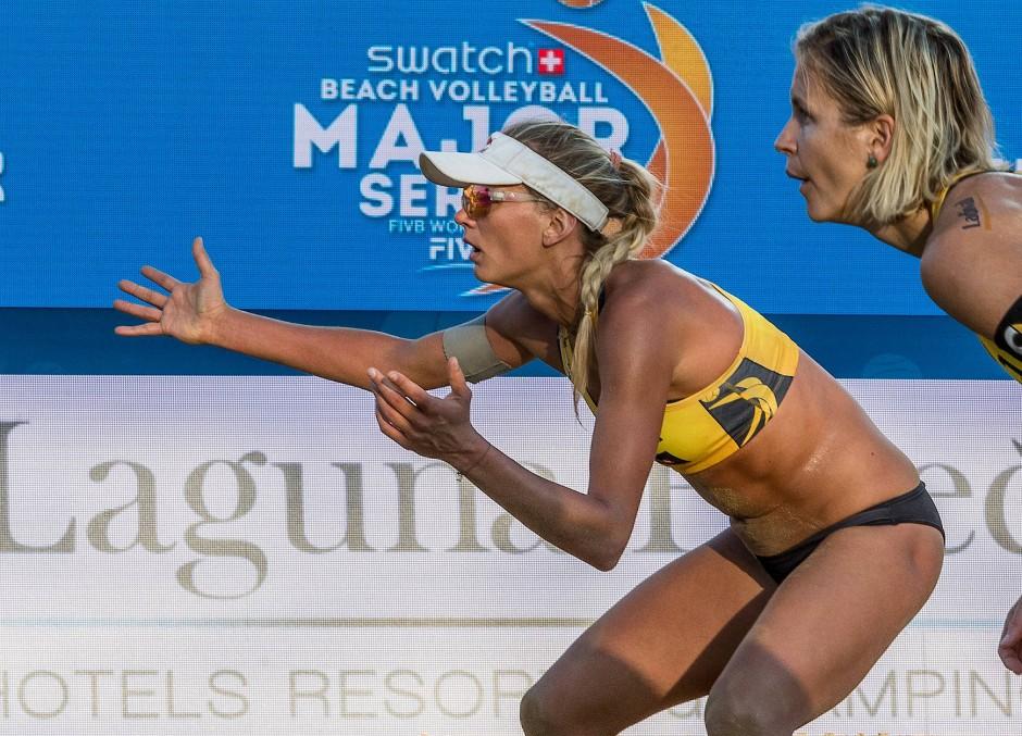 Fleischlos glücklich: Margareta Koruch (links, mit Laura Ludwig) hat sich gegen Bedenken ihrer Trainer durchgesetzt