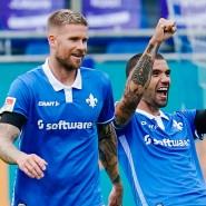 Die Darmstädter hatten viel Spaß am Spiel gegen St. Pauli.