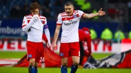 Mehr als unzufrieden mit der aktuellen Situation: Hamburgs Kyriakos Papadopoulos (rechts).
