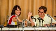 Ein Leben als Filmstoff: Emma Stone als Bilie Jean King, Steve Carell als Bobby Riggs.