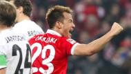 Erfolgshungrig: Torjäger Shinji Okazaki will Mainz 05 zum Klassenerhalt schießen