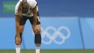 Geknickt: Melanie Leupolz merkt man die Enttäuschung über die Leistung des deutschen Frauenfußballteams an