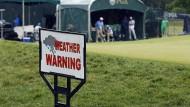 Wetterwarnung: Die besten Spieler mussten erst gar nicht zum Abschlag