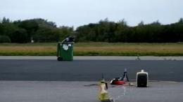 Die schnellste Mülltonne auf zwei Rädern