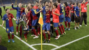 Messi und Eto'o krönen den FC Barcelona