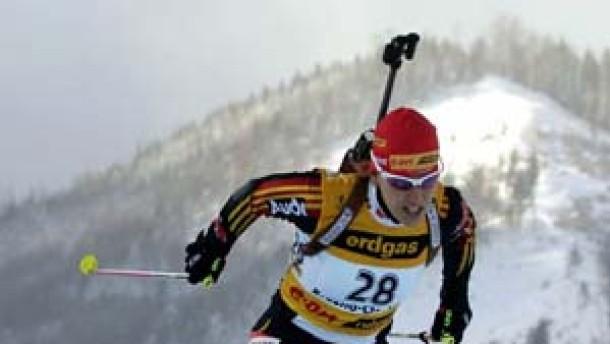 Kati Wilhelm erstmals im Gelben Trikot