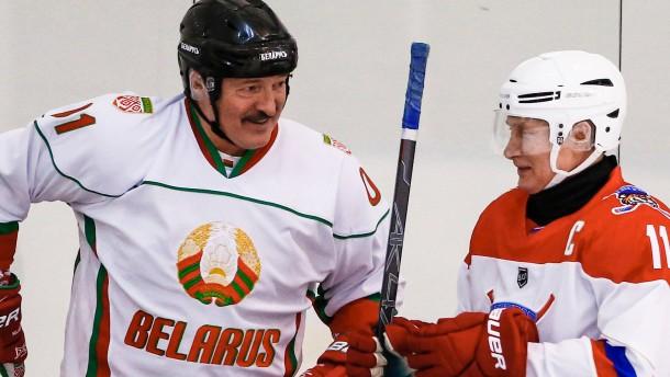 Eishockey in Putins Bunker