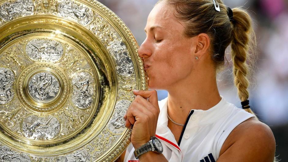 Erinnerungen an den Glanzmoment ihrer Karriere: Angelique Kerber gewinnt Wimbledon 2018.