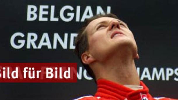 Schumachers Karriere in Spa