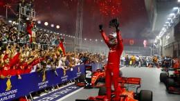 Feuerwerk für Vettel