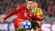 Warmschießen gegen Schwarz-Gelb: Robert Lewandowski soll die Bayern retten.