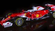 So sieht der neue Formel-1-Wagen von Ferrari aus.
