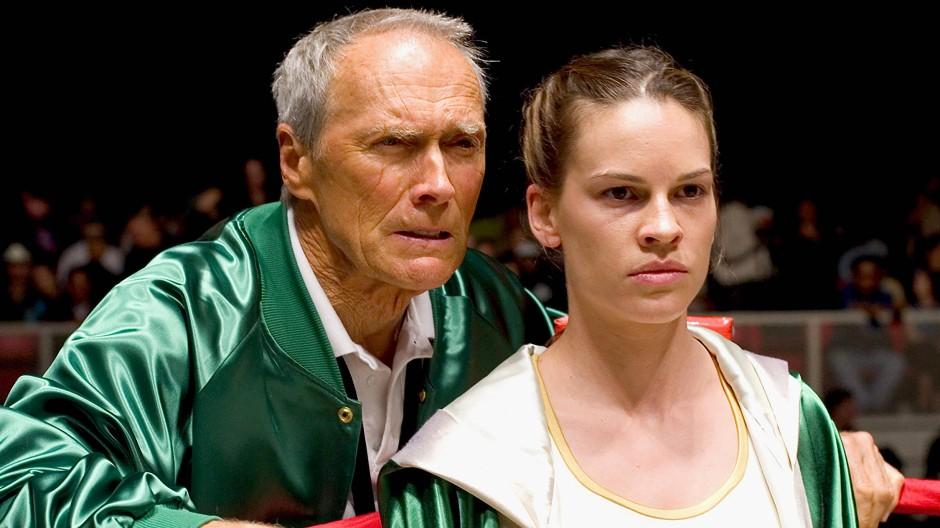 """""""Die Deckung ist das Wichtigste"""": Clint Eastwood (links) weiß als Boxtrainer, auf was es ankommt."""
