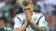 """Toni Kroos sieht die Lage realistisch: """"Wir sind jetzt unter Druck, keine Frage. Wir müssen sechs Punkte holen."""""""