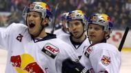Zahnlos, aber gefährlich: Die Eishockey-Profis des EHC München präsentieren sich so gut wie lange nicht mehr.