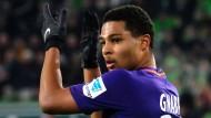Applaus, Applaus: Serge Gnabry trifft für Bremen in Wolfsburg.