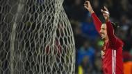 Freut sich, auch wenn er das Tor mal nichts selbst geschossen hat: Zlatan Ibrahimovic.