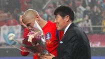 Cha Cha zum Abschied: Bum-Kun Cha nimmt seinen Sohn Du-Ri Cha in Empfang