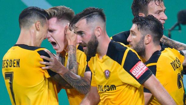 Dresden und 1860 München jubeln im DFB-Pokal