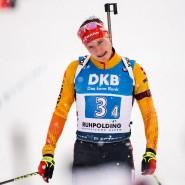Nicht wirklich zufrieden: Benedikt Doll beim Zieleinlauf in Ruhpolding