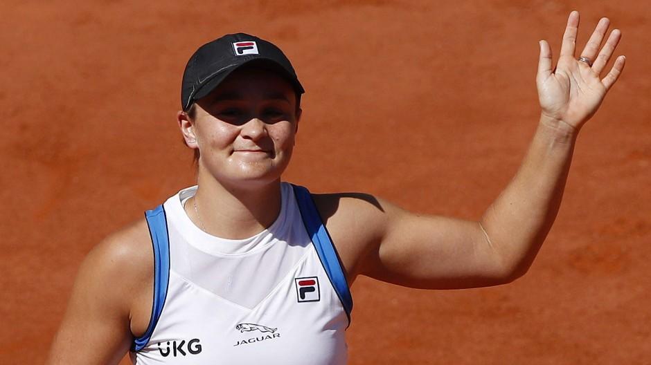 Für Ashleigh Barty sind die French Open frühzeitig beendet.