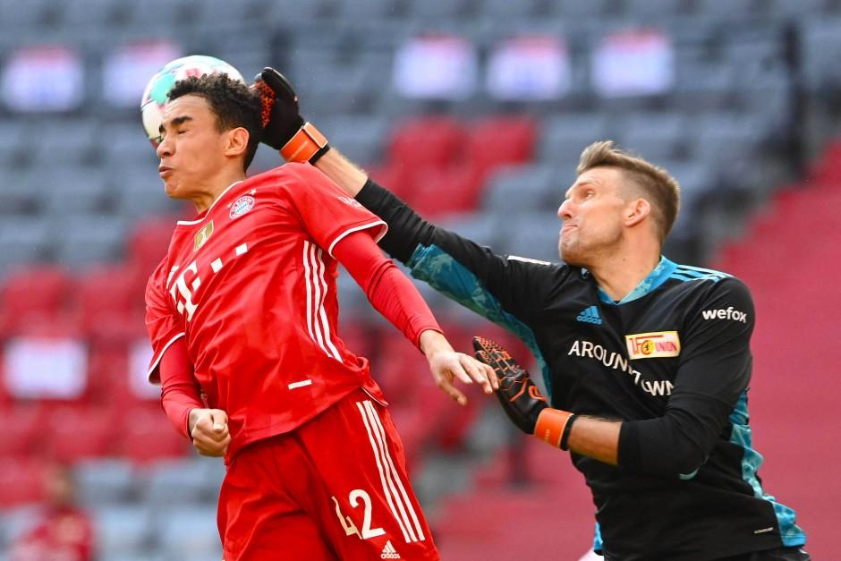 Der Torschütze gegen Union: Bayern-Youngster Jamal Musiala (links)