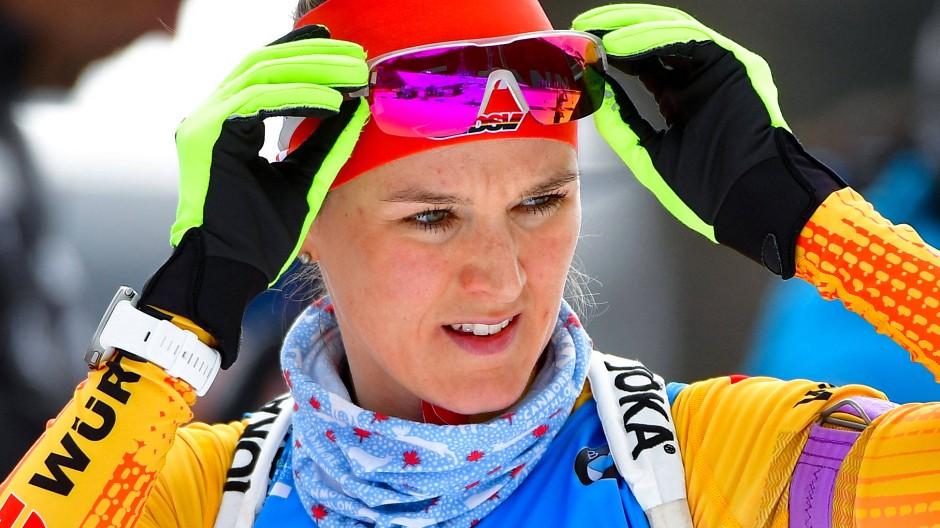 Denise Herrmann sichert sich Silber bei der Biathlon-WM.