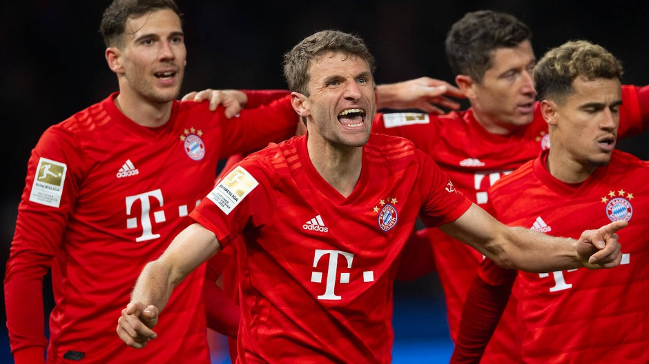 Thomas Müller (Zweiter von links) und die Bayern sind heiß auf das Duell mit dem FC Chelsea.
