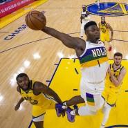 Abflug: Zion Williamson (Mitte) will in der NBA in neue Sphären vorstoßen.