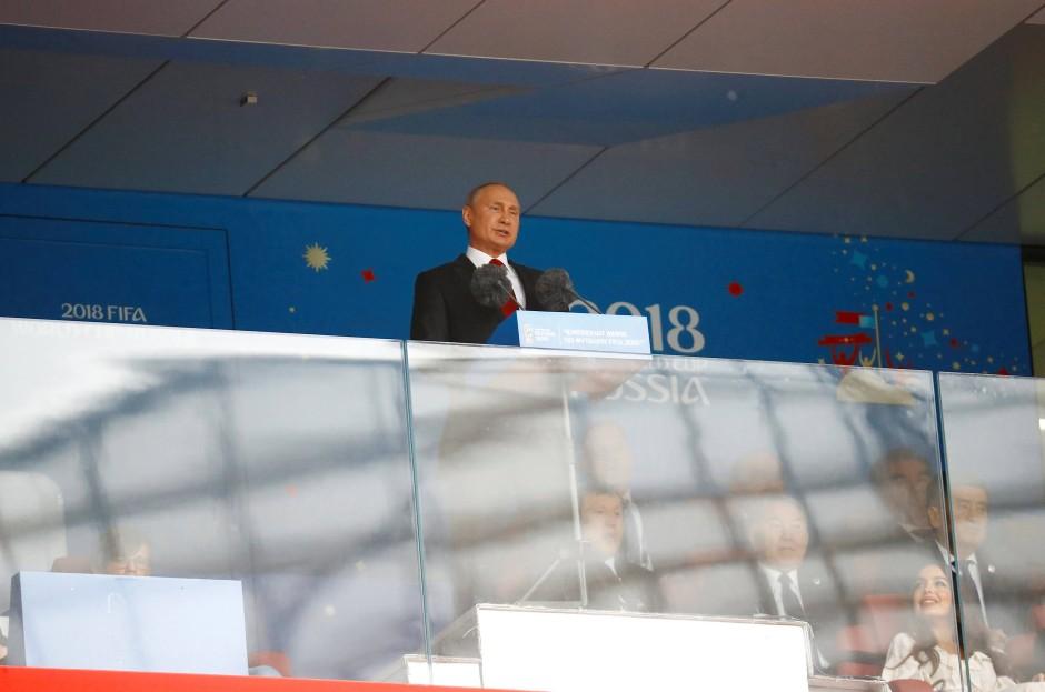 Der Staatspräsident spricht: Wladimir Putin eröffnet die WM