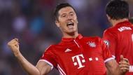 Bayerns Lewandowski schon in Torlaune